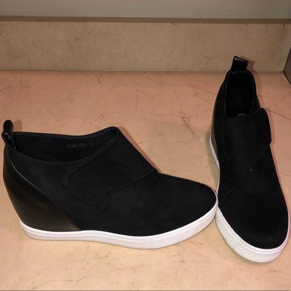 1ebb4ea93735 ccocci Shoes - Ccocci Black Velcro Wedge Sneaker Size 8
